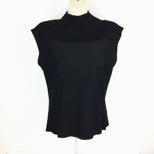 """Cyrus Sleeveless Stretch """"Ribbed"""" Top Size L"""